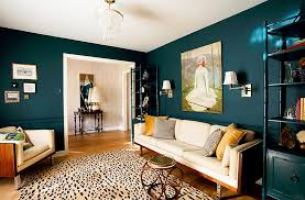 view in gallery creative combination of teal and yellow in the living room