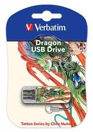 <b>Флеш диск Verbatim 16Gb Mini</b> Tattoo Dragon 49888 USB2.0 ...