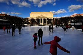 skaters on the ice at the national gallery of art sculpture garden ice rink which opens for the season on saay matt mcclain the washington post