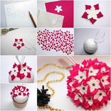Creative Ideas - DIY Felt Flower Christmas Ball Ornament