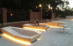 bench lighting. Bench Lighting. Image: Charles Mayer Plaza 9 Lighting I