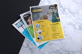 Cleaning Brochure Cleaning Service Company Flyer Template