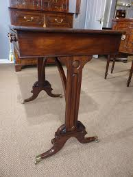small antique library table