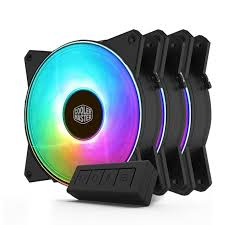 <b>Cooler Master</b> MasterFan <b>MF120R ARGB</b> 120mm Fan - 3 Pack + ...