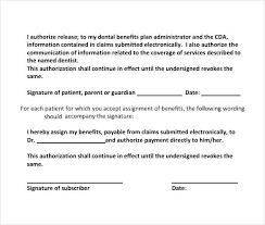 Dental Release Form | Oakandale.co