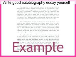 Example Essay About Yourself A Good Essay Example Best Photos Of Starting An Autobiography About