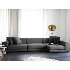 gray fabric sectional sofa. Beliani Modular Sectional Sofa - Gray Fabric L Cloud, Grey (Polyester)