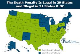 Oklahoma Crime And Punishment Chart States With The Death Penalty And States With Death Penalty