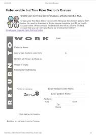 Fake Doctors Note Free For Work Fake Doctor Note For Work Templates At