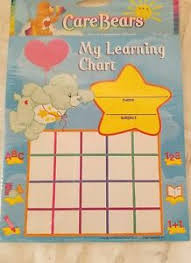 Details About Care Bears Learning Incentive Chore Charts Party Favors Supplies 50 Pack