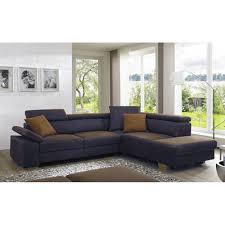 Couch Nova In Deluxe Grau Und Kontrastnaht Mit Metallfüsse Inkl Kopfpolsterverstellungen Verstel