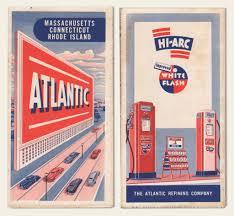 Old Brochures 1940s Atlantic Oil Road Map Auto Ephemera