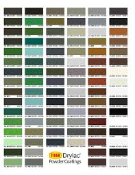 Faux Color Chart Color Charts Trojan Powder Coating