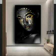 african black gold woman 20x30