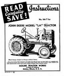 john deere tractor operators instruction manual jd bull  john deere la tractor operators instruction manual jd