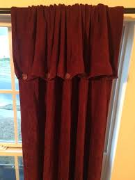 on tab top curtains chenille on down curtain 2 panels wine burdy ds rayon on tab on tab top curtains