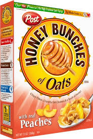amazon honey bunches of oats with real peaches 13 ounce bo pack of 4 breakfast cereals