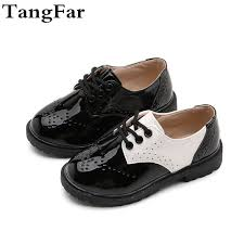 new boys leather shoes fashion causal kids school shoes formal wedding for girls flat loafers toddler boy leather shoes leather shoes from bradle