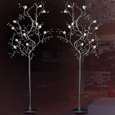 branch crystal floor lamp living room bedroom bedside lamp modern aesthetic customization upscale hotel standing lamp project