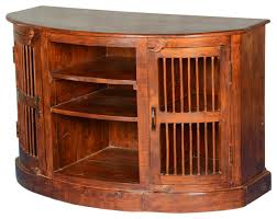 half moon curved solid wood tv cabinet