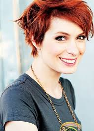 Short hairstyles for redheads