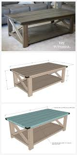 diy rustic x coffee table tutorial free