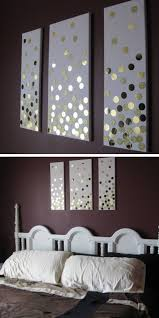 diy canvas wall art using paper and hole punch