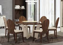 american eagle furniture dt p101 ivory brown lacquer rosewood finish round dining table set 7pcs