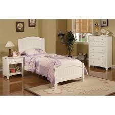 Poundex 3 Piece Kids Twin Size Bedroom Set In White Finish Walmart Com Walmart Com