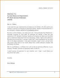 Job Application Letter Sample For Fresh Graduate In Civil