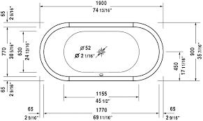 standard bathtub size tub design dimensions