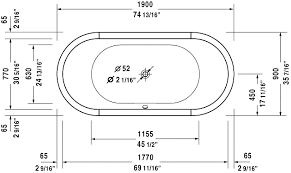 standard bathtub size tub design dimensions