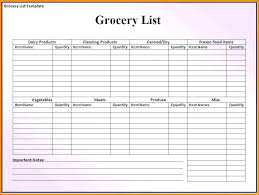 Shopping Spreadsheet Create Your Own Grocery List Template Shopping Spreadsheet