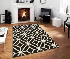 amazon contemporary rugs for living room modern rugs 5x7 black and white moroccan trellis area rug carpet 5 x 7 feet black kitchen dining