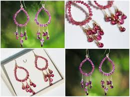 fuschia chandelier pertaining to best and newest chandelier rubellite pink tourmaline chandelier earrings in gold