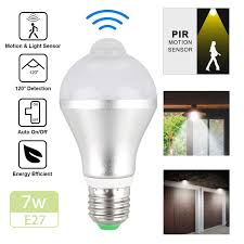 Ebay Dusk To Dawn Lights Details About Indoor Outdoor Motion Sensor Light Bulb Motion Activated Led Dusk To Dawn 7w 5w