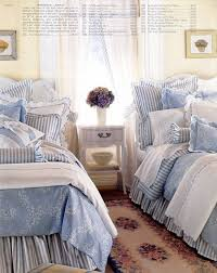Fabulous Chambray Blue & White Cottage Bedroom! ❤❤❤ | Bedrooms ...
