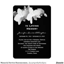 memorial service invitation memorial service announcement orchids