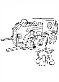 Cozy Rocky Paw Patrol Coloring Page S Recycling Truck Free Printable