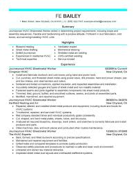 Modern Resume Sheet Best Journeymen Hvac Sheetmetal Workers Resume Example