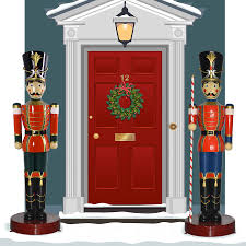 ... Outdoor Sweetlooking Large Toy Soldier Christmas Decoration Pleasurable  Life Sized W Baton 6 5 ...