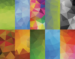 Colour Backgrounds Free 10 Colored Polygonal Backgrounds Psdblast