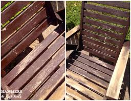 some serious stripping and refinishing our wood patio set