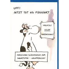 Geburtstagskarte Nachträglich Witzig Geburtstag Vergessen Kuh
