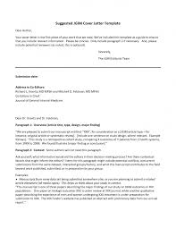 cover letter for article template cover letter for article