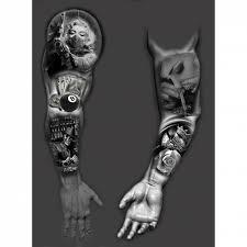 сделать татуировку рукав на нога в городе москва по эскизу мастера