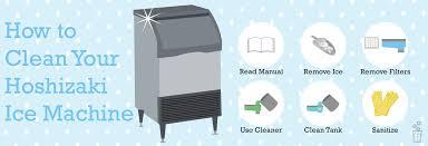 how to clean hoaki ice machine