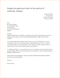 Simple Cover Letter Template Free Job Application Letter Sample