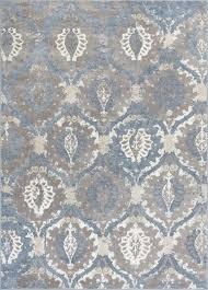 well woven pearl felize modern ogee ikat vintage blue area rug 7 10 x9