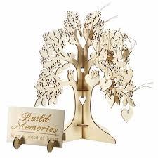 Guest Sign Book Senarai Harga 3d Wooden Guest Sign Book Family Wishing Tree Hearts